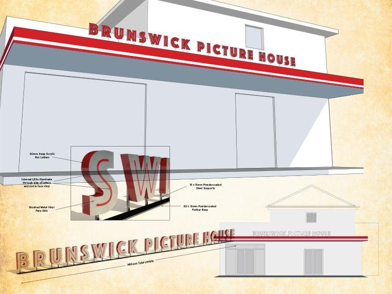 Brunswick Picture house signage