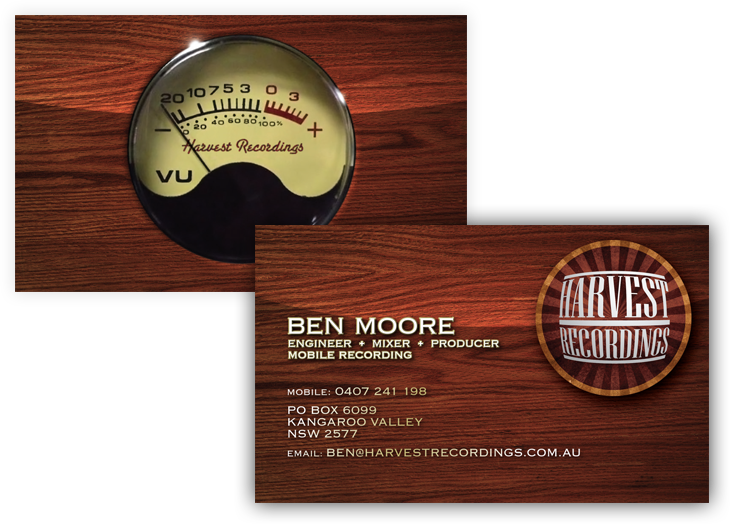 Harvest Recordings Business Card